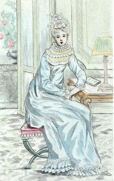 Mode in het negentiende-eeuwse Parijs, Henri Boutet, (1851 1919) van Liszt Collection