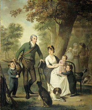 Familienportrait von Jonkheer Gijsbert Carel Rutger Reinier van Brienen von Ramerus mit seienr Frau