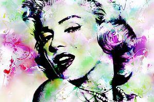 Marilyn Monroe Abstrakte Pop Art Rosa Grün