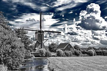 windmolen vrouw vennemolen in Oud Ade von eric van der eijk