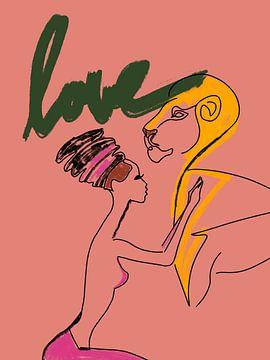 Afrika - Liebe von OEVER.ART