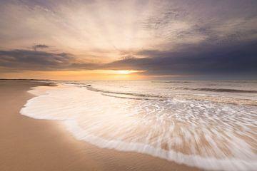 Coucher de soleil sur la plus grande plage de Texel