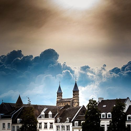 Maastricht, Sfeerfoto van Basiliek van Onze Lieve Vrouwe