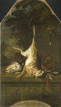 Stillleben mit toten Hasen und Rebhühnern, Dirk Valkenburg