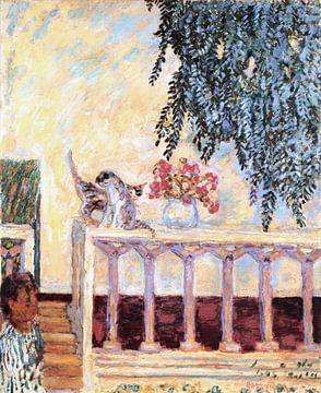 Katzen auf dem Geländer - von Atelier Liesjes