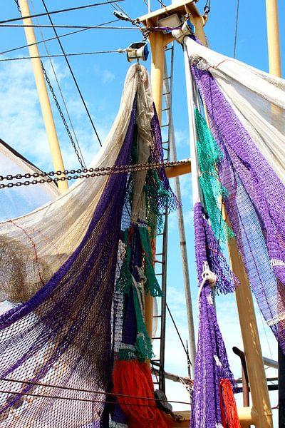 Visnetten scheepsmast van Inge Hogenbijl