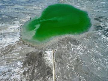 Bassin voor het ertsafval Sierrita Mine, Pima County, Arizona, USA von