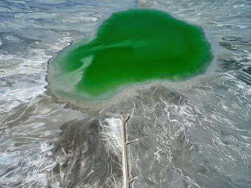 Bassin voor het ertsafval Sierrita Mine, Pima County, Arizona, USA van Marco van Middelkoop
