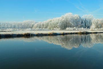 Winters landschap aan de Vecht van Merijn van der Vliet