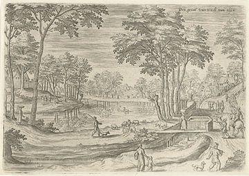 Hans Collaert (I),  Gezicht op het kanaal van Elsene van Atelier Liesjes