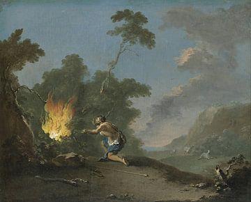 Mose vor dem brennenden Busch, Norbert Grund