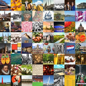 Typisch Niederlande - Collage von Bildern des Landes und der Geschichte von Roger VDB