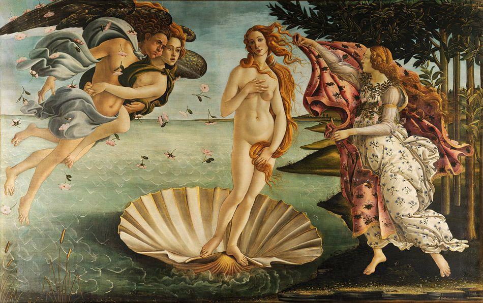 Sandro Botticelli - De geboorte van Venus van 1000 Schilderijen