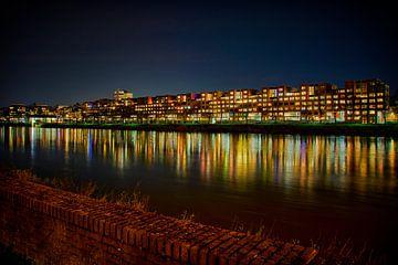 Maastricht by night met uitzicht op Céramique van Carola Schellekens