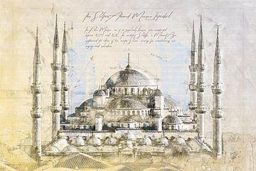 Blaue Moschee, Istanbul von Theodor Decker