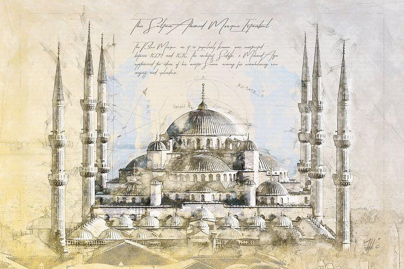 Blauwe Moskee, Istanboel van Theodor Decker