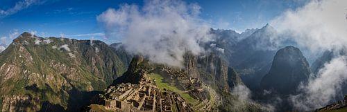 Machu Picchu in de morgen van