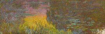 Die Seerosen - untergehende Sonne, Claude Monet