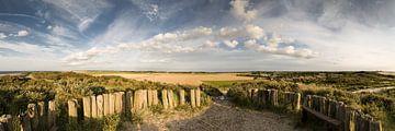 Panorama vanaf het Hoge Duin tussen Cadzand en Nieuwvliet van René Weijers