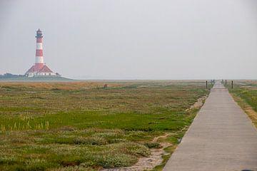 Weg zum Leuchtturm Westerheversand von Alexander Wolff