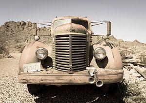 Oude auto, International van