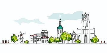 Skyline Dordrecht von Anjo Vrieling