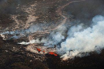 Vulkanausbruch auf der Big Island, Hawaii von Remke Spijkers