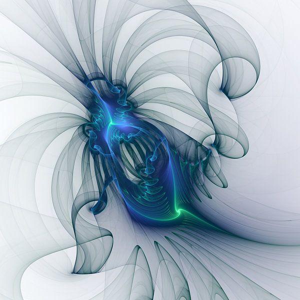 Abstract Art With Blue van gabiw Art