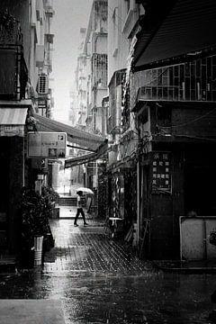 Regenachtige dag in Shenzhen von André van Bel