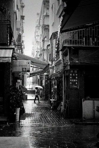 Regenachtige dag in Shenzhen