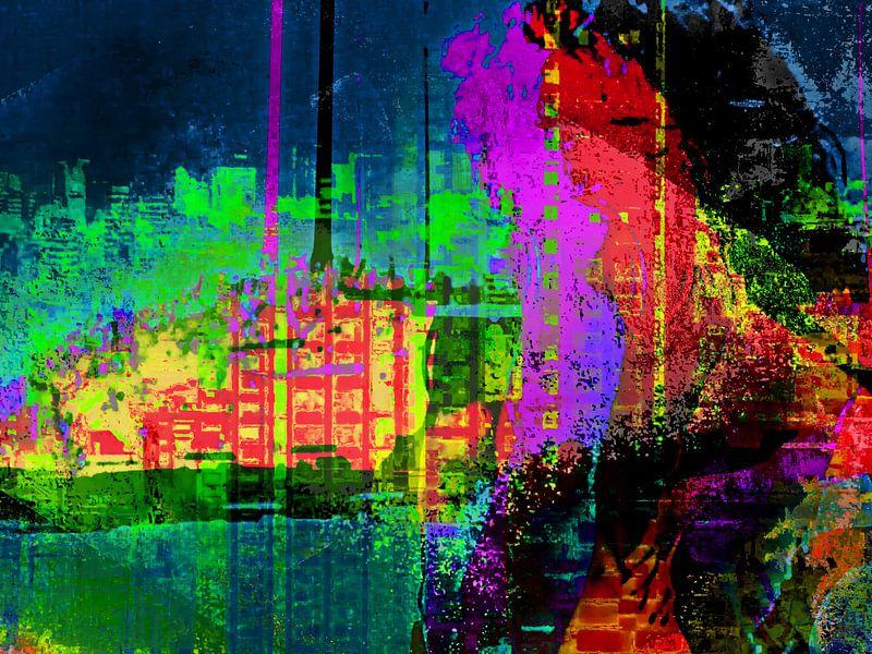 Abstract woman van Gabi Hampe