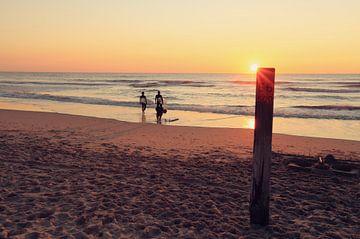 sunset @ the Beach van