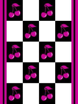 DOES Pop Art Purple Cherries van Jan Willem van Doesburg