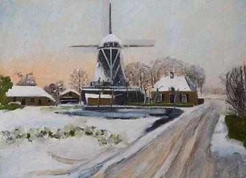 Salz im Winter von Antonie van Gelder Beeldend kunstenaar