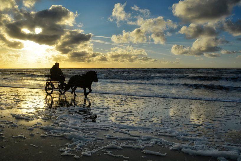 Zonsondergang op Texel van Claudia Moeckel