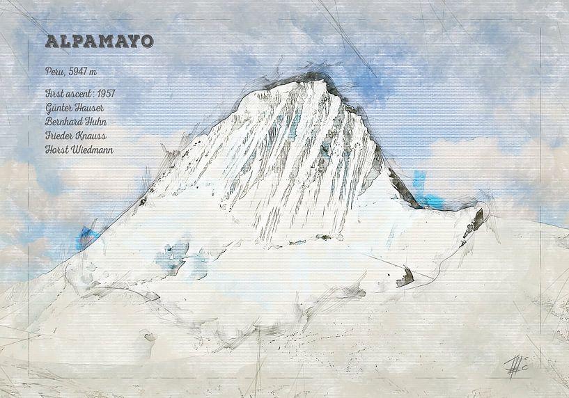 Alpamayo, Peru von Theodor Decker