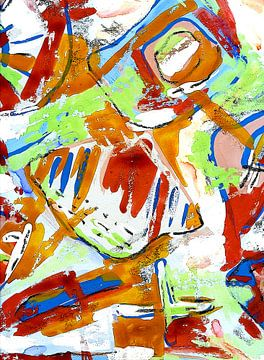 """Abstract """" Aliviteit """" van Claudia Gründler"""