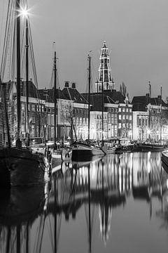 Hoge der A und Lage der A in schwarz/weiß von Henk Meijer Photography