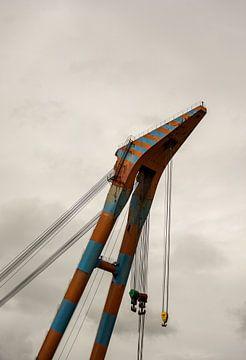 Voor de grote hijsklussen in de haven van Rotterdam. van scheepskijkerhavenfotografie