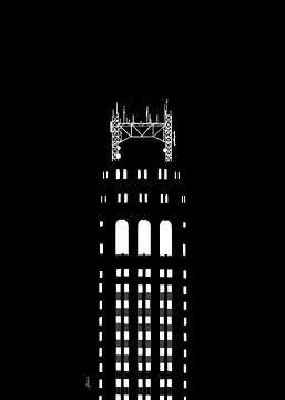 Zwanzig Tauschplätze bei Nacht von Govart (Govert van der Heijden)