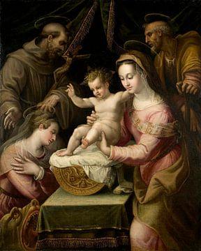 Heilige Familie mit den Heiligen Margarete und Franziskus, Lavinia Fontana