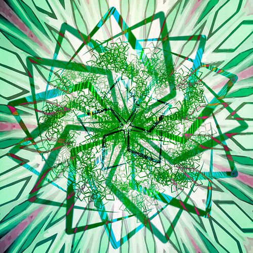 Ster mandala, groen