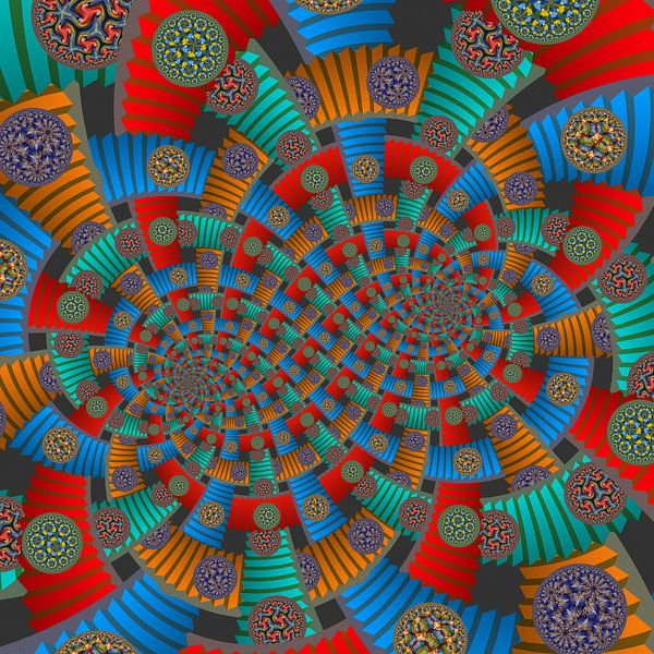 Dubbele Spiraal van Trappen en Cirkels van Tis Veugen
