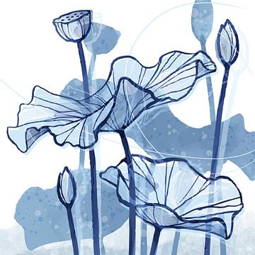 Lotus Delft Blue 02 sur Ingrid Joustra
