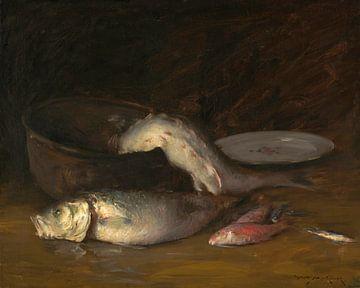 Großer Kupferkessel und Fische, William Merritt Chase