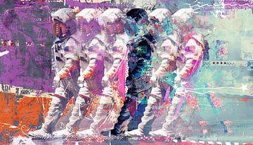 Astronaut Moonwalk van Teis Albers