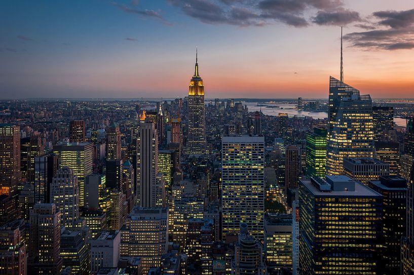 New York  ... vom Rockefeller Center van Kurt Krause
