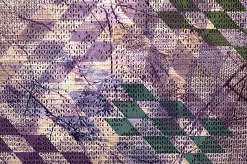 Grafisch patroon - harlekino van Rietje Bulthuis