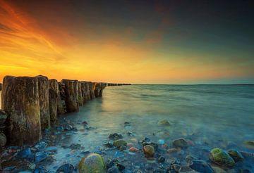 Buhnen am Meer von Frank Herrmann
