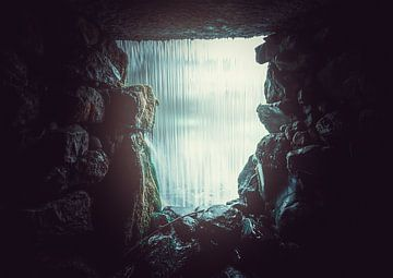 Sonsbeek Park - im Inneren des Wasserfalls von Davy Hansen
